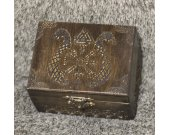 Vikings - Vegvisier and Dragons themed medium jevelery box/casket with hidden section