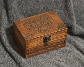 Celtic Hearts wooden jevelery box/casket