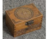 Secret Compartment Celtic Tree of Life themed jevelery box/casket with hidden section