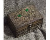 Celtic Cat themed wooden jevelery box/casket