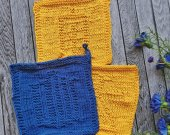 dishcloths knit, handmade dishcloths, doctor who, tardis, dalek