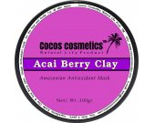 Acai berry Antioxidant mask | Acai Clay detox mask | Anti aging mask | Clay facial mask | Organic Acai Berry Mask for face