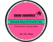 Damask Rose and French pink clay,  Rose Whitening facial mask, Anti aging facial mask, Mineral clay mask, Rose Petals and Pink Clay