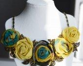 Handmade chiffon  necklace in boho style