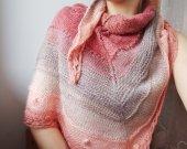 Knitted lace wool shawl , russian style bridal shawl , russian headscarf