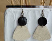 Original earrings made of leather