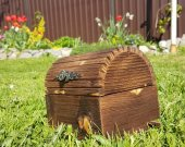 Handmade wood box.