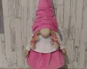 Handmade pink Gnome for your interior.