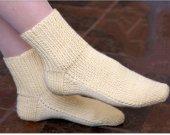Alpaca ankle socks , Bright orange hand knitted warm women's socks