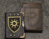Handmade leather craft paper 150 pages notebook ™The Chronicles of Nilfgaard™  in wooden box