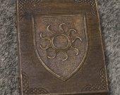 Shield - Empire of Nilfgaard themed wooden jevelery box/casket - book-shaped - Black