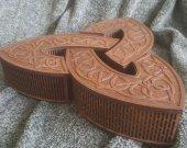 Triskel 3-in-1 celtic themed set of jevelery boxes
