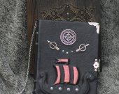 Viking themed Scald™s Saga series Handmade leather notebook in wooden box