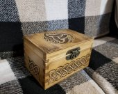 Secret Compartment Celtic themed jevelery box/casket with hidden section