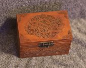 Video! Secret Compartment Celtic Dragons themed jevelery box/casket with hidden section