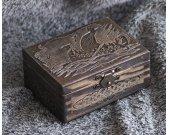 Viking- Drakkar themed mini wooden jevelery box/casket
