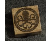 The Call of Cthulhu - H.P.Lovecraft themed alderwood square jevelery box/casket