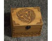 Secret Compartment Celtic themed medium jevelery box/casket with hidden section