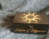 Empire of Nilfgaard themed pine wood jevelery box/casket - Black/Gold