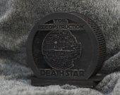 DeathStar themed wooden Piggy bank