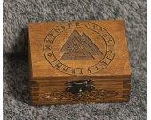 Celtic valknut themed mini wooden jevelery box/casket