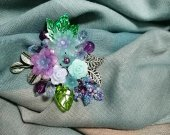 """Brooch """"bouquet of flowers"""" as a gift to mom or your beloved"""