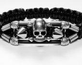 Handmade bracelet with a durable cord. Skull-2