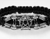 Handmade bracelet with a durable cord. Pentagram