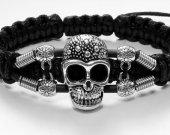 Handmade bracelet with a durable cord. Skull