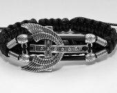 Handmade bracelet with a durable cord. Cross