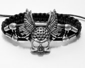 Handmade bracelet in shambala style. Cross-3
