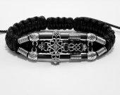 Handmade bracelet with a durable cord. Cross 2