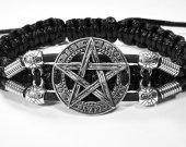 Handmade bracelet with a durable cord. Pentagram 1