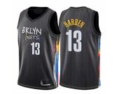 Men's Brooklyn Nets #13 James Harden Black The City Edition Jersey