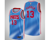 Men's Brooklyn Nets #13 James Harden Hardwood Classic Blue Jersey