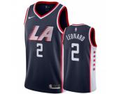 Men's Los Angeles Clippers #2 Kawhi Leonard Navy The City Edition Jersey