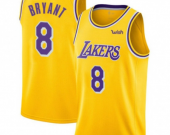 Men's Los Angeles Lakers #8 Kobe Bryant Gold Icon Edition Jersey