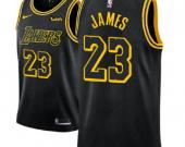 Men's Los Angeles Lakers #23 LeBron James Black Mamba Jersey