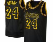 Men's Los Angeles Lakers #24 Kobe Bryant Black Mamba Jersey