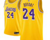 Men's Los Angeles Lakers #24 Kobe Bryant Gold Icon Edition Jersey
