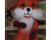 A squirrel. A toy. Felting from wool