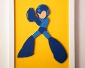 Handmade Mega Man minimalist wood wall art #2