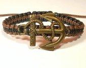 Handmade bracelet with a durable cord. Anchor 2