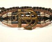 Handmade bracelet with a durable cord. Anchor 3