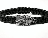 Handmade bracelet with a durable cord. Owl