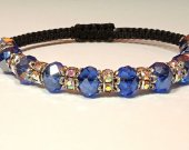 Handmade bracelet with a durable cord. Cut glass 2