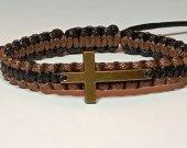 Handmade bracelet with a durable cord. Cross 6