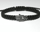 Handmade bracelet with a durable cord. Hamsa