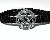 Handmade bracelet with a durable cord. Pentagram 7