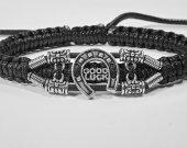 Handmade bracelet with a durable cord. Good Luck